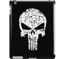 The Punisher Skull Distress White Marvel Fanart iPad Case/Skin