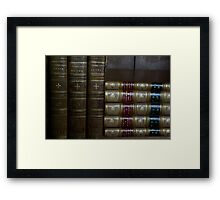 Ancient Books Framed Print