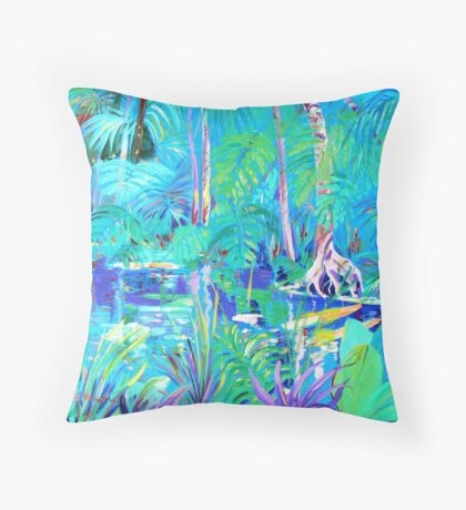 The Blue Pool # 2 Throw Pillow