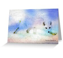 Fabulous Foxes:  Arctic Ghost Greeting Card