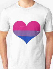 Pride Flags Heart - Bisexual T-Shirt