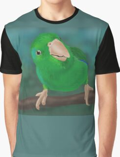 Closer Look (Pacific Parrotlet) - iPad Illustration Graphic T-Shirt