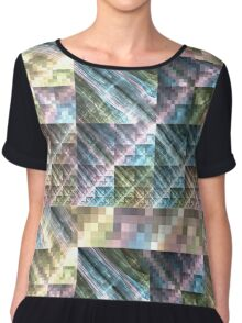 Pastel Tapestry - Abstract Fractal Artwork Chiffon Top