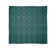 Mermaid Damask (Teal and Black) Scarf