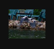 Heron By Rock Wall Unisex T-Shirt