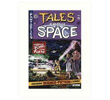 Back to the Future Tales from Space comic cover Art Print