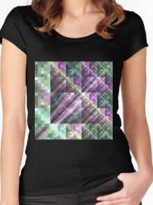 Tile - Abstract Fractal Artwork Women's Fitted Scoop T-Shirt