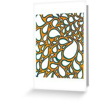 Orange and Blue Water Droplet Design Greeting Card