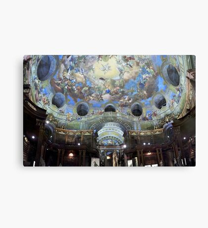 Angelic Library (Austrian National Library) Canvas Print