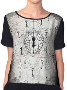 Keys to the subconscious mind Chiffon Top