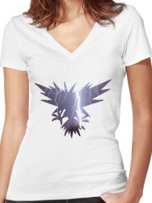 Zapdos used thunder Women's Fitted V-Neck T-Shirt