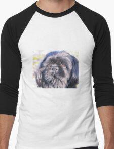 Cute shih tzu head Men's Baseball ¾ T-Shirt