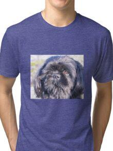 Cute shih tzu head Tri-blend T-Shirt