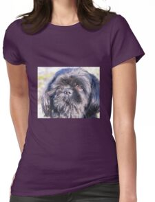 Cute shih tzu head Womens Fitted T-Shirt