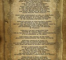 """Desiderata """"desired things"""" on parchment by Irisangel"""