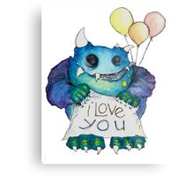 I Love You Monster Metal Print