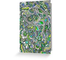 Green,Purple,Blue Doodle Greeting Card