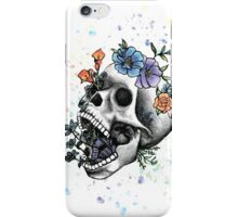 Flower Skull by Andrea Cain iPhone Case/Skin