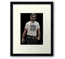 NO PIRLO NO PARTY Framed Print