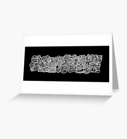 the faces of graffiti Greeting Card
