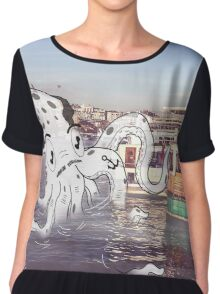 Imaginary Octo-Friend by Kale Atterberry Chiffon Top