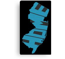 New Jersey HOME state design Canvas Print
