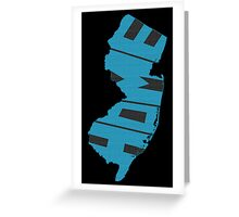 New Jersey HOME state design Greeting Card