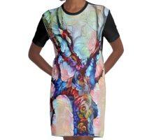 The Tree of Life Graphic T-Shirt Dress