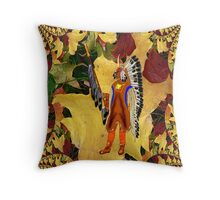 A Mandan Red Indian Chief - pillow & tote Throw Pillow