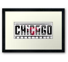 Chicago Bulls Ice Framed Print