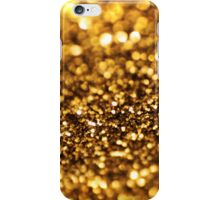 Gold glitter background iPhone Case/Skin