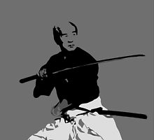Samurai II (Gray, Print Only) by Mashiba
