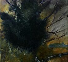 Ancient English Tree Countryside Painting Acrylics On Canvas by JamesPeart