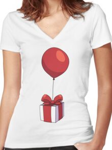 Animal Crossing - Present Women's Fitted V-Neck T-Shirt
