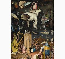 Hieronymus Bosch - The Garden Of Earthly Delights Art Fragment Painting: eden, hell, beauty, adam, retro animals, birds, cool love, trendy gift, celebration, vintage monster, doodle, birthday, fantasy Unisex T-Shirt