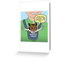 Seeing-Eye Hamster Greeting Card