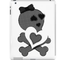 Skulls & Lace - Crossbones Heart Graphic iPad Case/Skin
