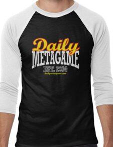 Daily Metagame Sport Red Stroke Men's Baseball ¾ T-Shirt