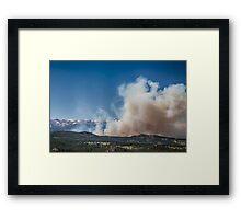 Cold Springs Fire Boulder County Colorado Framed Print
