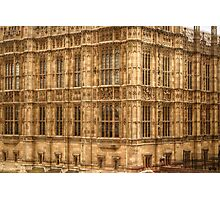 Closer Look at Westminster Palace Photographic Print