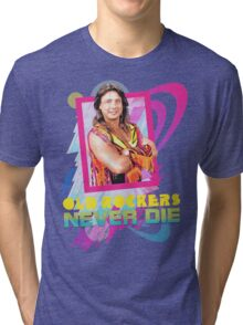 Old Rockers Never Die - 80's Style Marty Jannetty Tri-blend T-Shirt