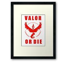 VALOR OR DIE Framed Print