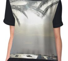 Sunset Amongst Palm Trees Chiffon Top