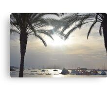 Sunset Amongst Palm Trees Canvas Print