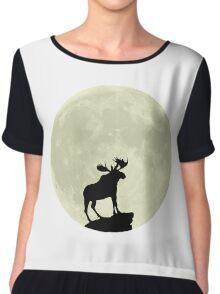 Midnight Moose Chiffon Top