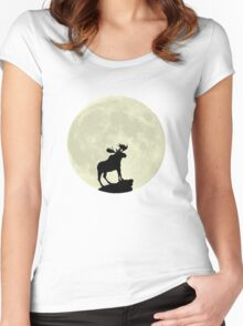 Midnight Moose Women's Fitted Scoop T-Shirt