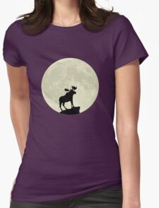 Midnight Moose Womens Fitted T-Shirt