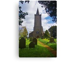 Blessed Virgin Mary Church, Rattery Canvas Print