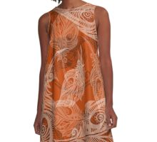feather pattern A-Line Dress