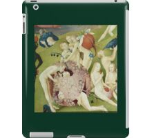 Hieronymus Bosch - The Garden Of Earthly Delights Art Fragment Painting: eden, hell, beauty, adam, retro animals, birds, cool love, trendy gift, celebration, vintage monster, doodle, birthday, fantasy iPad Case/Skin